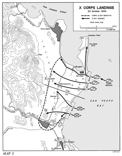 Leyte Landing, X Corps - 20 October, 1944