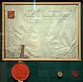 Liège, Grand Curtius, diplôme liégeois de l'empereur Napoléon 1er.JPG