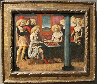 Liberale da Verona - Scene from novella of chess-players, Metropolitan Museum of Art, NY, USA.