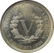 1913 Liberty Head V Back
