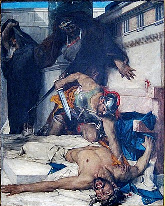 Timophanes - The Death of Timophanes by Léon Comerre (1874)