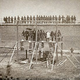 Execution of conspirators in Lincoln's assassination