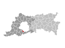 Location of Linkebeek in Flemish Brabant