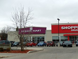 Manitoba Liquor & Lotteries Corporation - A MBLL-operated Liquor Mart retail outlet in Winnipeg