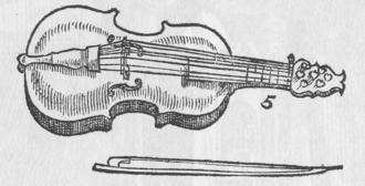 """Lira da braccio - """"Lyra de bracio"""" as illustrated by Michael Praetorius in his Syntagma Musicum"""