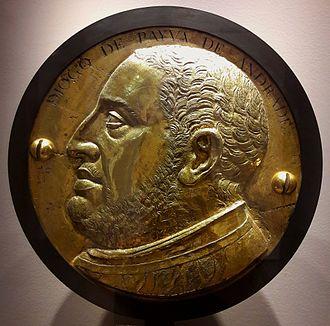 Diogo de Payva de Andrada - Bronze tondo with bust of Diogo de Payva de Andrada, Lisbon workshop, ca. 1575, National Museum of Ancient Art, Lisbon