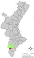 Localització de Fondó de les Neus respecte el País Valencià.png
