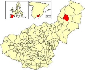 Castilléjar - Image: Location Castilléjar