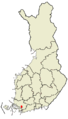 Location of Halikko in Finland.png