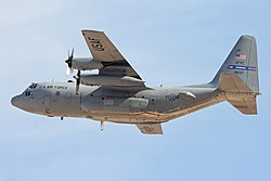A C-130 Hercules operated by the 700th Airlift Sqn, part of the 94th Airlift Wing based at Dobbins ARB.