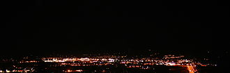 Lockwood, Montana - Lockwood viewed from Billings at night