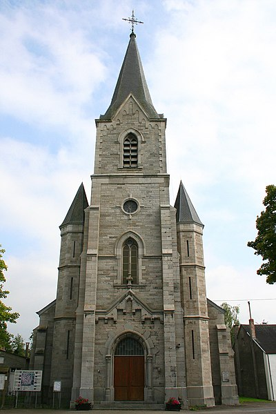 Lomprez   (Belgium), the St. Denis's church (1877-1878).