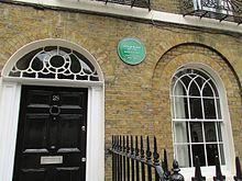 Casa en Londres en la que vivió Orwell durante sus últimos años, de 1944 a 1947.