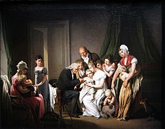 La vaccine or Le préjugé vaincu by Louis-Léopold Boilly, 1807