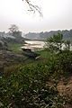 Lone Boat on Riverbank Churni - Halalpur Krishnapur - Nadia 2016-01-17 9049.JPG