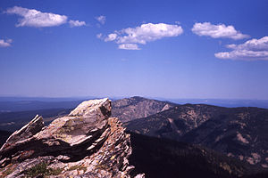 Mount Hancock (Wyoming) - Looking north from Big Game Ridge, 1971