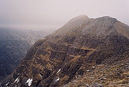 Looking east at the Liathach peaks of Stob a' Coire Liath Mhor and Stùc a' Choire Dhuibh Bhig. - geograph.org.uk - 401409.jpg
