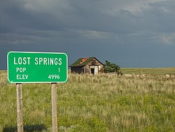Road Sign in Lost Springs, 2007