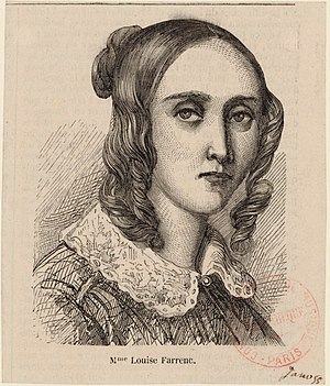 Louise Farrenc - Louise Farrenc (née Jeanne-Louise Dumont), about 1855, Bibliothèque nationale de France.