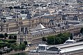 Louvre from the Eiffel Tower, 23 July 2009.jpg