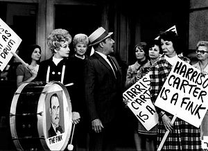 "Mary Wickes - Mary Wickes (right) with Lucille Ball and Gale Gordon in episode ""Lucy Goes on Strike"" from Here's Lucy (1969)"