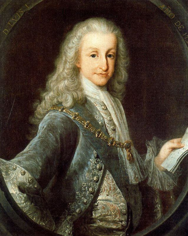 Luis I of Spain in 1724 by Melendez