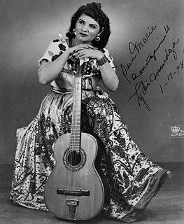 Lydia Mendoza American guitarist and singer