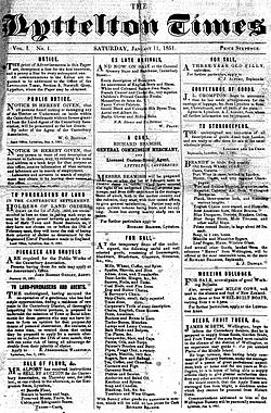 Lyttelton Times, first edition.jpg