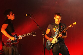 M83 (band) - Maulini and Gonzalez from M83 performing at the Pully For Noise festival in 2008