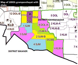 10 DOL - map of 10 dol grampanchayat