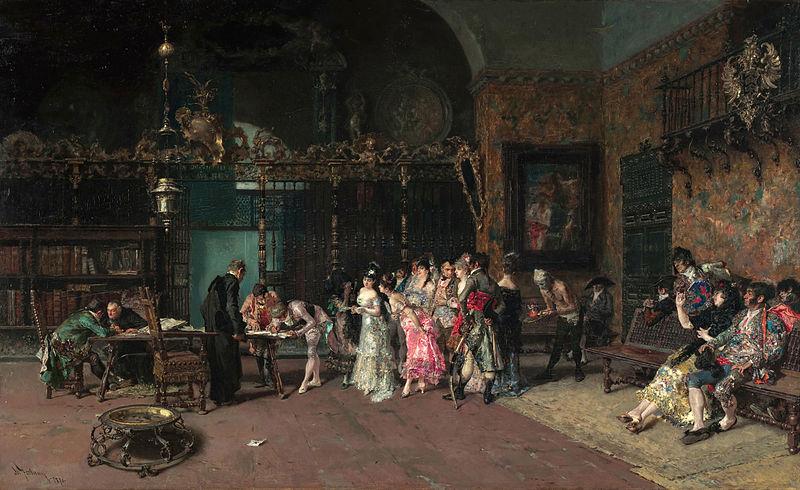 File:MARIANO FORTUNY - La Vicaría (Museo Nacional de Arte de Cataluña, 1870. Óleo sobre tabla, 60 x 93.5 cm).jpg