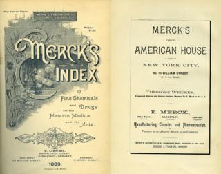 <i>Merck Index</i> Іndex of chemicals