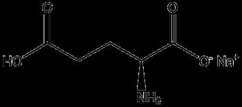 Chemical structure of monosodium glutamate de:Bild:Natriumglutamat.png pl:Grafika:Msglu.png