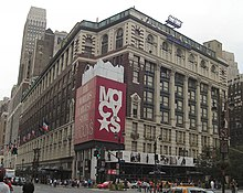 Macy's flagship department store in New York City with its famous brownstone at 34th and Broadway