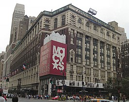 Het vlaggenschip van Macy's in New York City