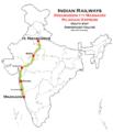 Madgaon Rajdhani Express route map.png