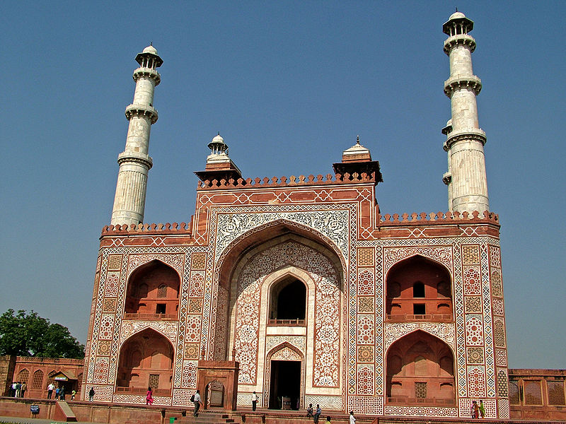 File:Main Gate to the Akbar's Tomb, Sikandra.jpg