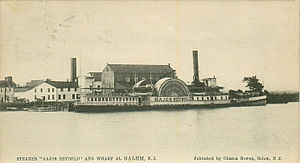 Port of Salem - Image: Major Reybold at Salem Wharf with caption
