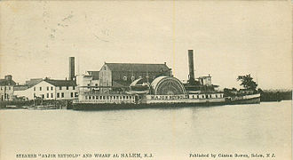 Ice Boat No. 3 - The passenger steamboat Major Reybold, one of two steamboats involved in collisions with Ice Boat No. 3 on Grand Army Day, 1899