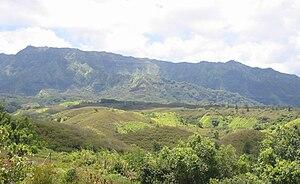 Makaleha Mountains - Makalea Mountain Range (2010 photograph)