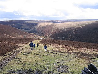 Exmoor area of hilly open moorland in west Somerset and north Devon in South West England