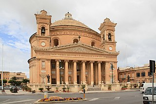 Rotunda of Mosta Church in Mosta, Malta