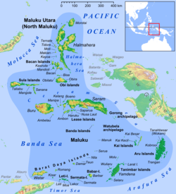Tidore island in the north of Maluku Islands