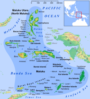 Maluku Islands Archipelago in eastern Indonesia, also called the Spice Islands