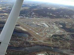 New Hampshire Wing Civil Air Patrol - Manchester-Boston Regional Airport from CAP airplane
