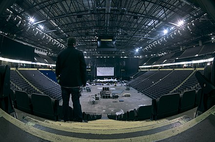 Panorama of the arena, facing the main stage Manchester Arena panorama.jpg