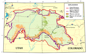 Mancos Shale - Mancos Shale and Mowry Shale oil and gas fields within the Uinta Basin and Piceance Basin