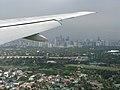 Manila skyline from above, flying over Manila, Manila, Philippines.jpg