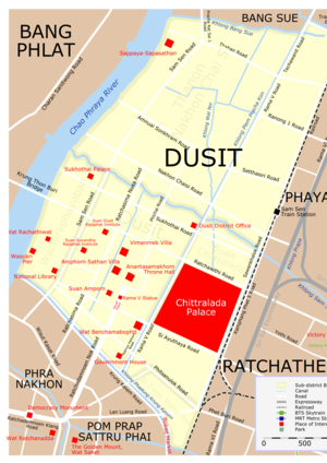 Dusit District - District map