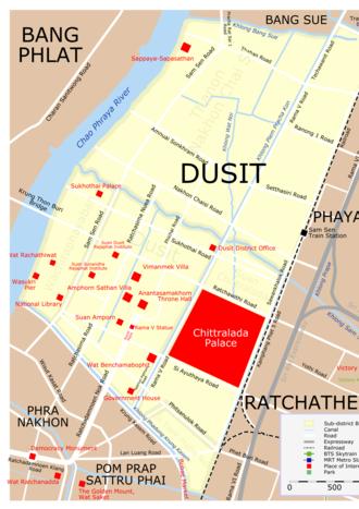 Dusit District - District map